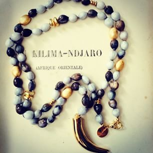 Serengeti Collection, made with wild grass seeds, and gold beads