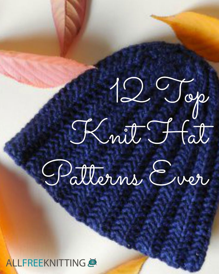 12 Top Knit Hat Patterns Ever - Check out this amazing list of warm cable knit hats, fun knit beanie patterns, and more!