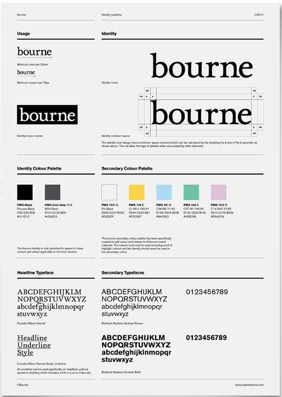 bourne brand identity guideline