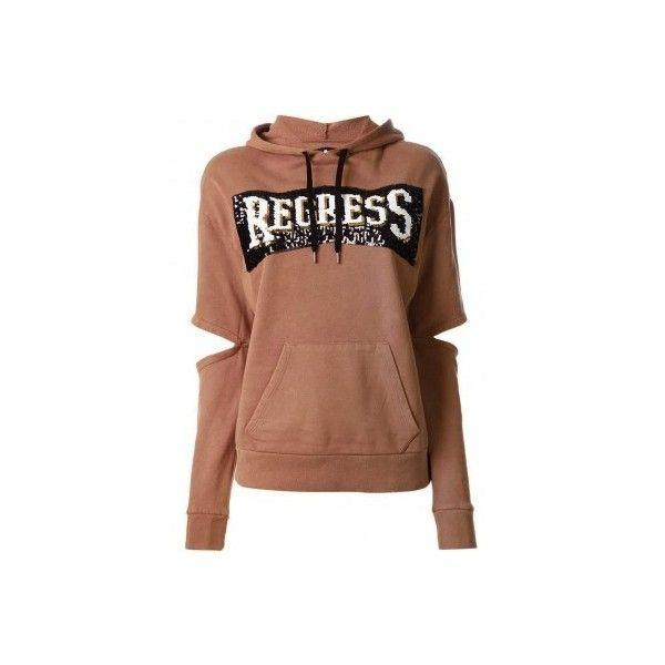 GILES camel hoodie ❤ liked on Polyvore featuring tops, hoodies, sequin hoodies, hoodie top, beige hoodie, hooded sweatshirt and hooded pullover