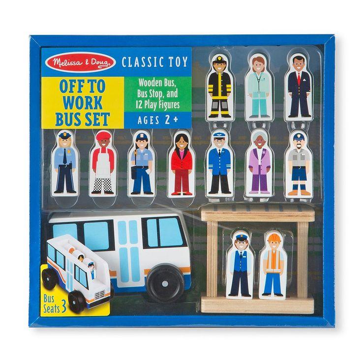Melissa & Doug Off to Work Bus Set, Multicolor