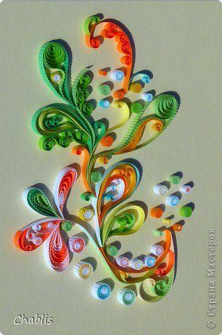 Картина панно рисунок Квиллинг Радужная абстракция для квиллингового задания в Хомячке Бумажные полосы фото 1