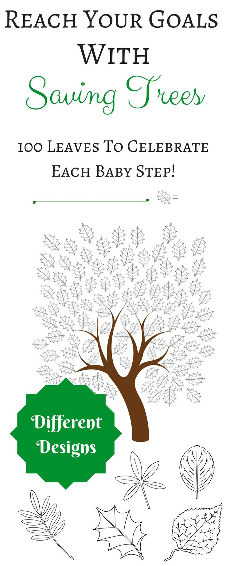 Keep the steam when you're saving for an important goal with this cute saving tree bundle! Featuring rowan, alder, holly, birch and chestnut.  #colouring #savingtrees #goals #tracking #charts