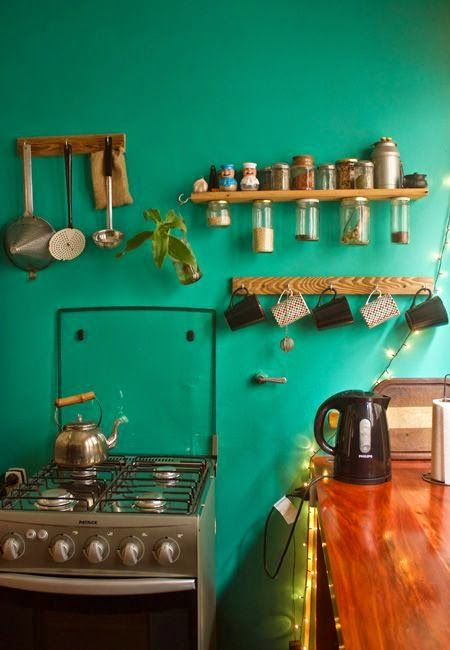 Moon to Moon: Turquoise Kitchens
