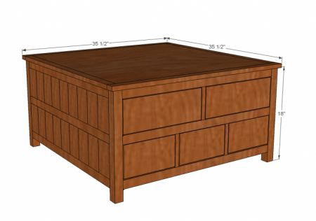 Square Coffee Table Building Plans Downloadable Free Plans