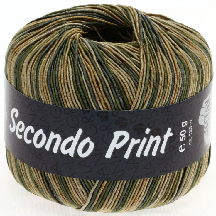 SECONDO print II 509-gold/grey green/beige
