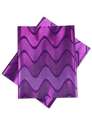 GL19 - Gele head wraps, Purple chevron