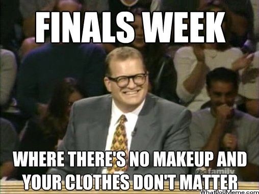 Nervous about finals week in college and need some ideas?