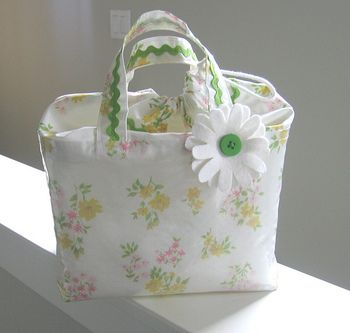 vintage pillow case tote cute.