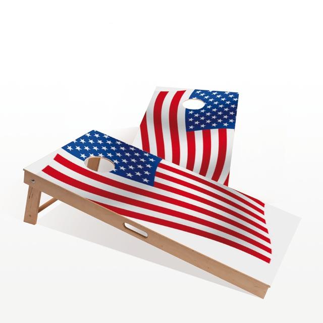 Cornhole Board - American Flag. The themed boards of Gockel #Cornhole come in several different designs. We have a design for everyone! www.gockel-cornhole.com