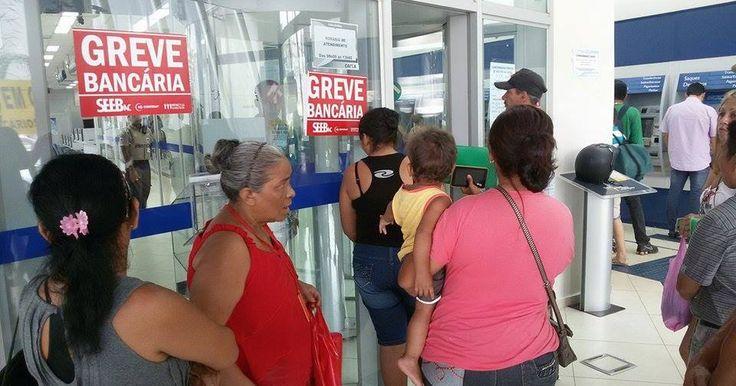 Greve dos bancários fecha mais de 10 mil agências pelo país, diz Contraf