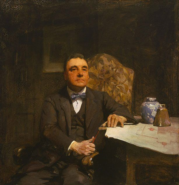 William Beckwith McInnes (Australian: 1873–1930) - Portrait of H. Desbrowe Annear by W B McInnes was the first (1921) Archibald Prize winner