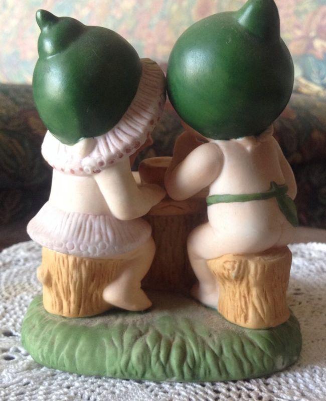 Vintage Gumnut Babies Porcelain Designed In Australia By Native Bush Babies