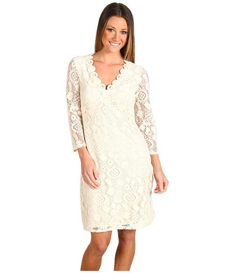 Muse Crochet Dress Ivory - 6pm.com