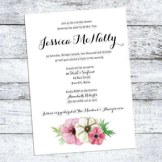 Rustic floral Bridal Shower Invitation  the by starboardpress, $2.90