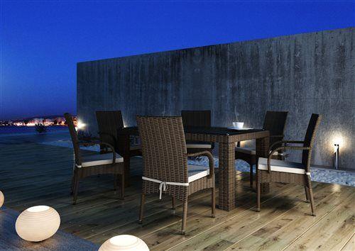 tramonto sada stoliciek  rapallo stol 160 cm z umeleho ratanu hneda  2
