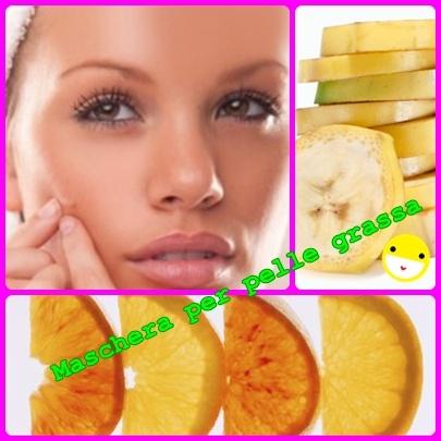 maschera per pelle grassa banana e limone