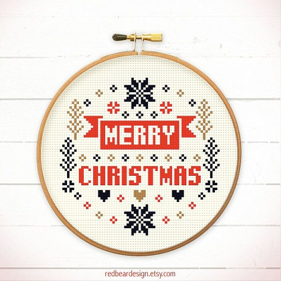 Hey, I found this really awesome Etsy listing at https://www.etsy.com/nz/listing/200993434/christmas-cross-stitch-pattern-merry