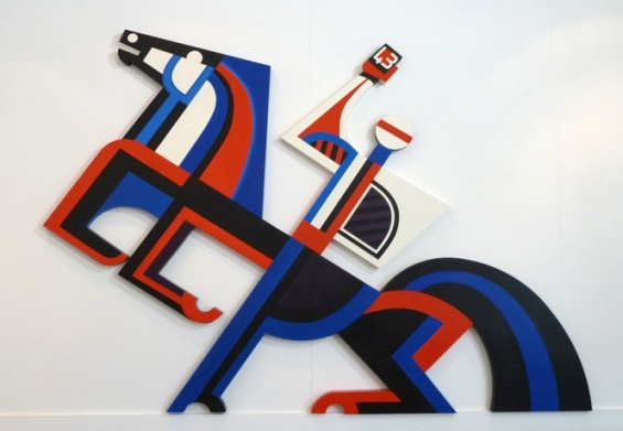 Te Kooti Series # 43 by Para Matchitt Acrylic on plywood