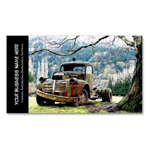 163 best automotive business cards images on pinterest lyrics vintage truck automotive restoration services business card template reheart Images