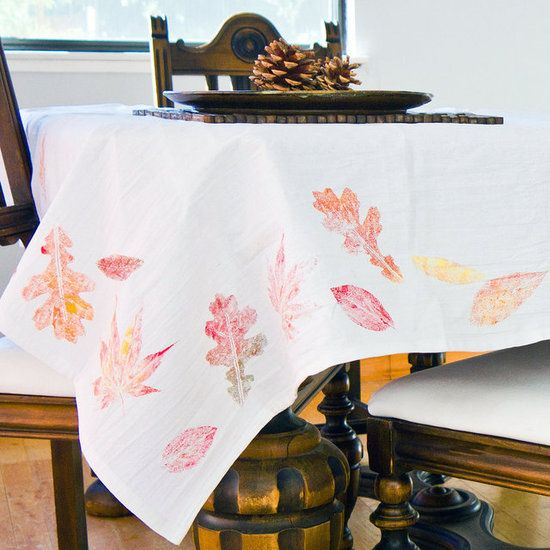 Beautiful Invite Your Holiday Guests To The Table With A Handmade Tablecloth Thatu0027s  So Simple To Pull Off. Along With Being Quick And Easy, This Fall Tablecloth  Costs