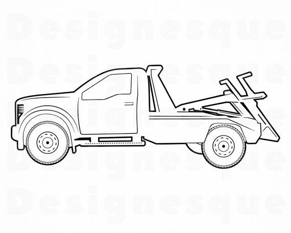 Tow Truck Outline 2 Svg Tow Truck Svg Tow Truck Clipart Etsy In 2021 Tow Truck Truck Coloring Pages Tow Truck Driver