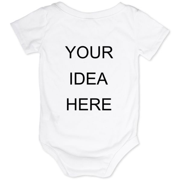 Have an idea for a cute baby onesie? Maybe there is a new baby in your life and you would like a personalised onesie for them to celebrate. Whatever the reason