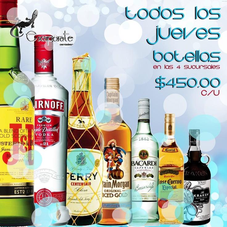 Flyer publicitario de promoción de jueves Escaparate Canta Bar
