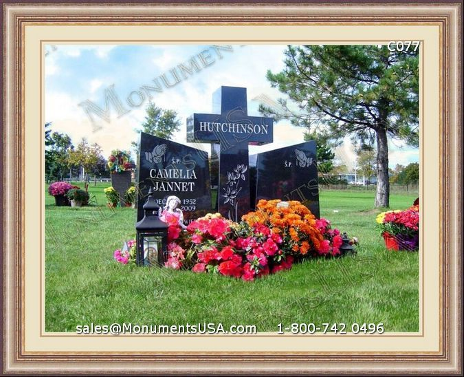 Grave_Stone_C077 | Cross Grave Monument | Grave Markers Headstones Cross