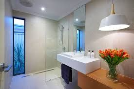 Image result for small ensuite with screenless shower