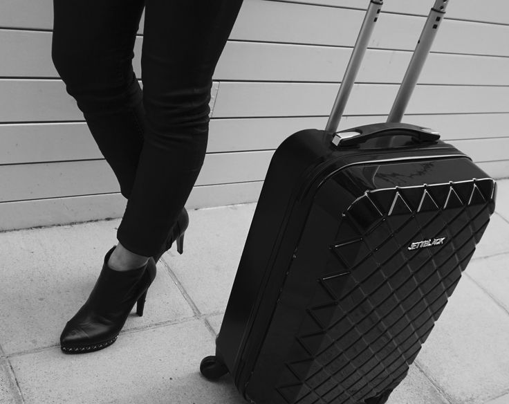 Runway Ready. Check Black Carry On by Jett Black  #Luggage #Jetsetter