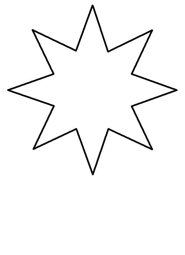 Malvorlage stern 6 zacken Coloring and Malvorlagan