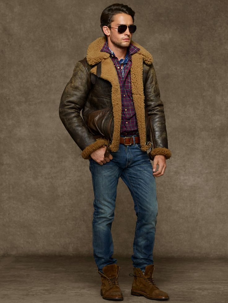 10 best Shearling men images on Pinterest | Leather jackets, Men's ...
