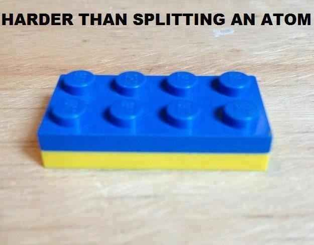 Lego - Harder than splitting an atom - THIS: | The 23 Absolute Worst Parts Of Your Childhood