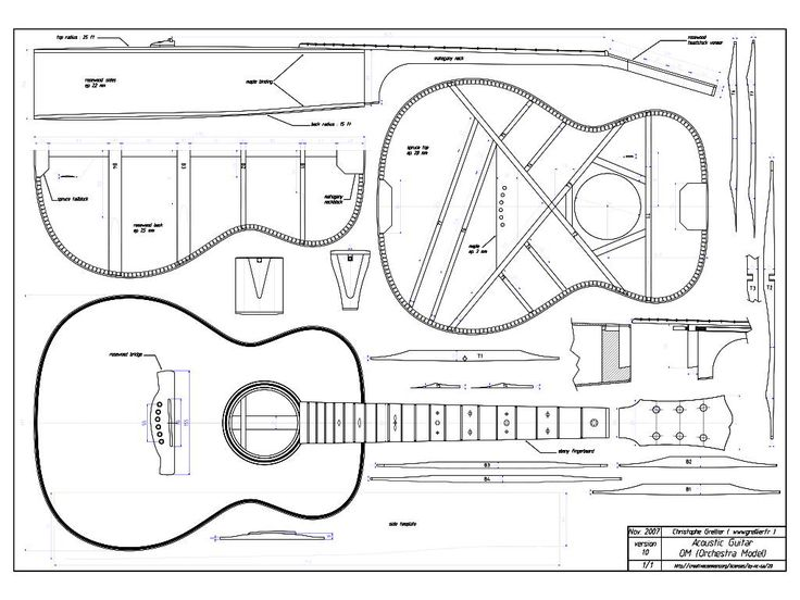 Acoustic Guitar Templates Guitars And Music Pinterest