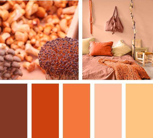 Provenientes de un ambiente extremo, estas tonalidades naranjas componen un espacio rico y muy acogedor.  Espacio vía: stylehuntercollective