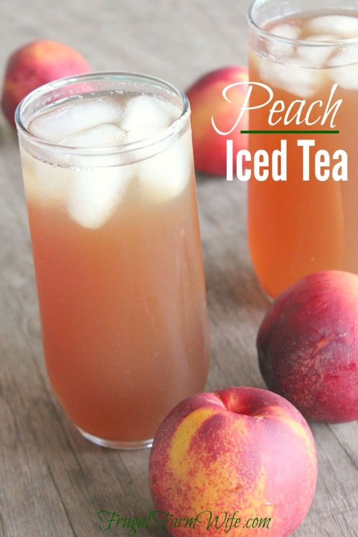 This peach iced tea recipe is super easy, and a delightful way to spruce up traditional tea!