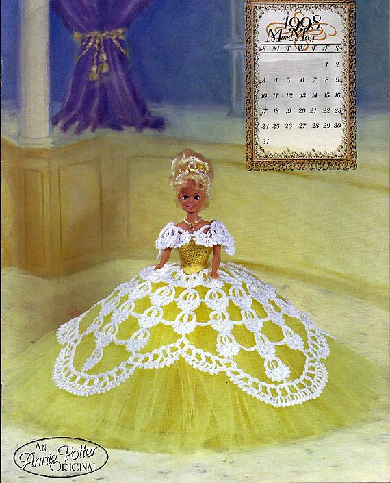 The Royal Ballgowns 1998 Miss May Crochet by grammysyarngarden