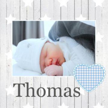 Geboortekaartje met foto jongen f950 JippieJippie
