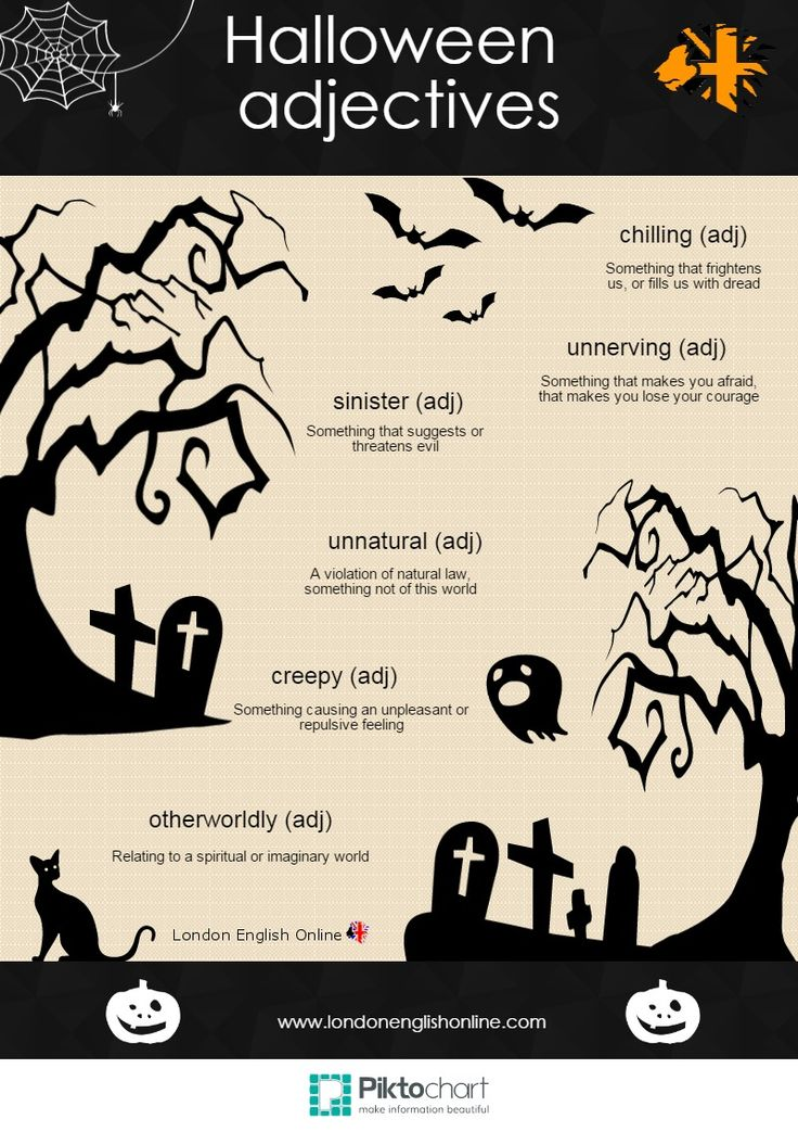 More spooky Halloween vocabulary for you. www.londonenglishonline.com