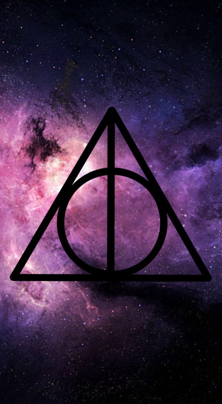Harry Potter And The Deathly Hallows Symbol Wallpaper High Quality On Wallpaper 1080p Harry Potter Wallpaper Harry Potter Wallpaper Phone Harry Potter Painting