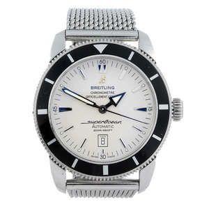 LOT:20   BREITLING - a gentleman's stainless steel Aeromarine Superocean Heritage 46 bracelet watch.