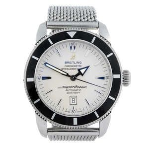 LOT:20 | BREITLING - a gentleman's stainless steel Aeromarine Superocean Heritage 46 bracelet watch.