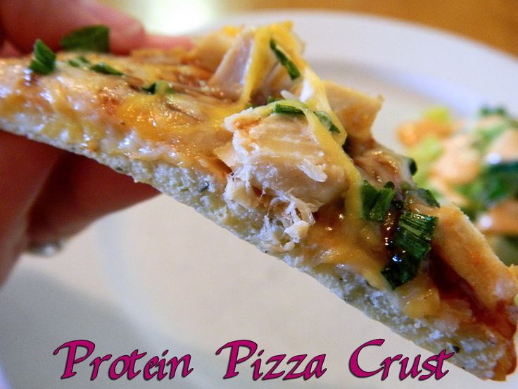 Protein Pizza Crust -- doesn't use cauliflower. WLS Meal. WLS Recipe.