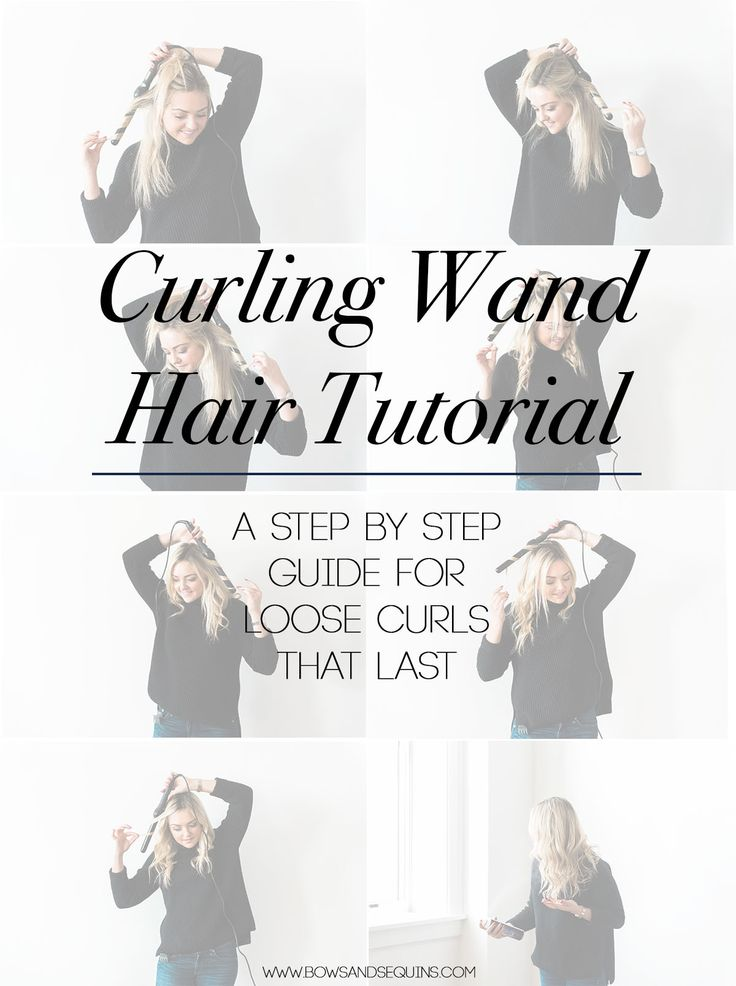 A step-by-step guide to curling your hair with a clipless curling wand to get those loose curls and waves! It's so easy once you get the hang of it.