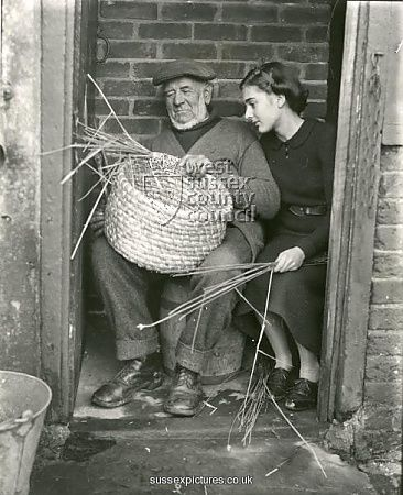 Weaving the Skep ... weaves the good hearts of the good family together ... hands to work, hearts to God!