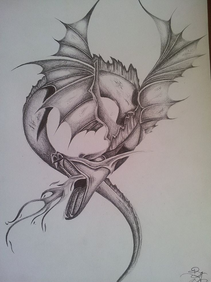 21 best cool dragon tattoo drawings images on pinterest for Cool fantasy drawings