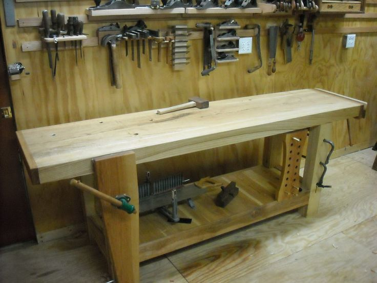My Big Ash Knockdown Roubo Workbench By Combo Prof