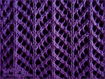 Arrowhead Lace stitch pattern