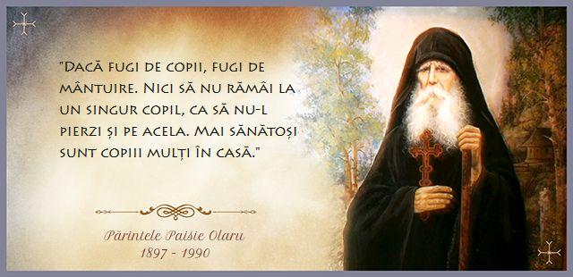 Părintele Paisie Olaru - Fugi de copii, fugi de mântuire